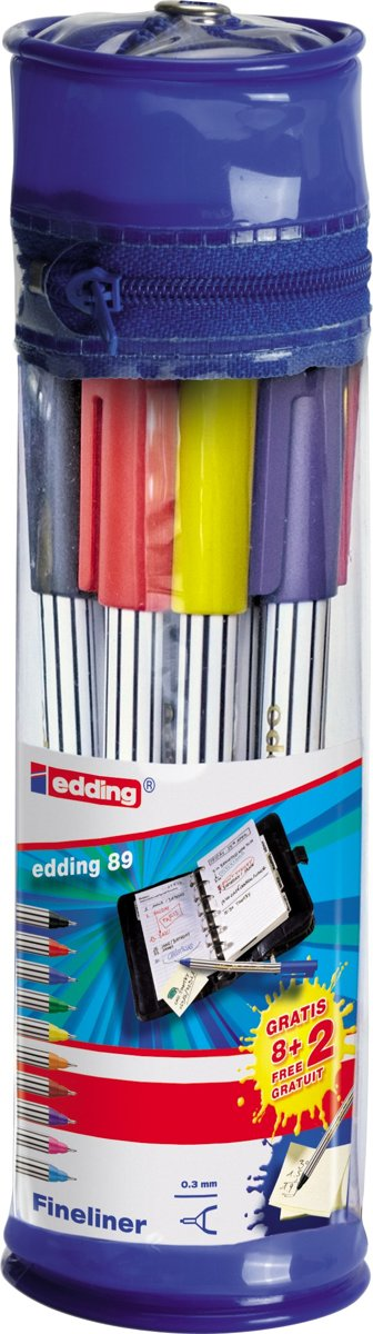 Edding 89  0,3 mm 10 stiften in etui [ fineliner ]
